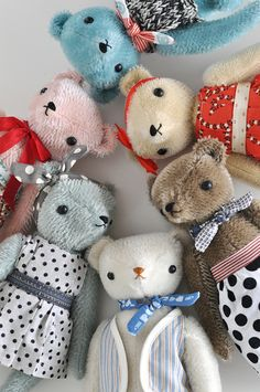 POLKA DOT CLUB bears by JENNIFER MURPHY