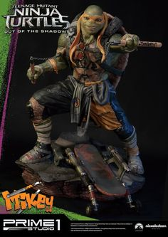 Teenage Mutant Ninja Turtles Out Of The Shadows Michelangelo Statue Images From Prime-1