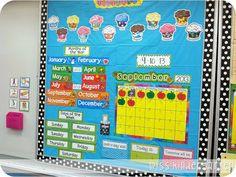 Miss Kindergarten: Calendar Time {using interactive calendar notebooks} Calendar Time Kindergarten, Miss Kindergarten, Classroom Calendar, Classroom Setup, Classroom Displays, Kindergarten Classroom, Classroom Organization, Calendar Wall, School Calendar