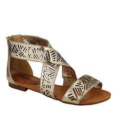 Look at this #zulilyfind! Gold Covina Sandal by Breckelle's #zulilyfinds $8.99
