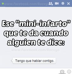 """I have no clue what this says. I just saw """"mini-infarto"""" and thought, mini fart.... I probably just ruined a really inspiring philosophical quote with my weird humor.."""