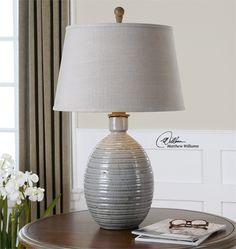Uttermost Evigan Blue Ceramic Table Lamp