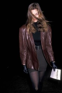 40 Outfits From the to Inspire Your Fall Wardrobe - Fashion Outfits Grunge Look, Grunge Style, 90s Grunge, Soft Grunge, Grunge Outfits, Leather Jacket Outfits, Vintage Leather Jacket, Leather Jackets, Style Année 90