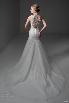 jillian 2017 bridal sleeveless strap v neck surplice bodice lightly embellished drop waist tulle skirt elegant modified a  line wedding lace back chapel train (maya) bv