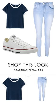 """""""Outfit #58"""" by malayam ❤ liked on Polyvore featuring H&M, Glamorous and Converse"""