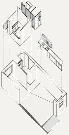 Darling Point Apartment Garage Apartments, Loft House, Open Plan Living, Wood Paneling, Floor Plans, Indoor, Design, Home Decor, Interior