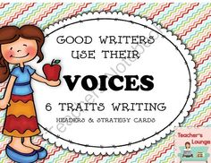 Writing Posters and Headers Bundle from Teacher's Lounge on TeachersNotebook.com -  (42 pages)  - Good writers use their VOICES! Poster headers and strategy cards.