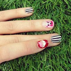 miley cyrus nail art, very funny.  I see what you did there.