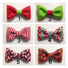 Christmas Holiday Winter Bow Tie Dog Collar by DapperDogDesigns, $8.00