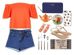 """""""Sushi"""" by away-for-a-day ❤ liked on Polyvore featuring Topshop, Accessorize, Kate Spade, Price & Kensington, Casetify, Home Decorators Collection and Round Towel Co."""