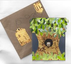 Handmade Owl Card  Blank Inside by beautifullygreen on Etsy