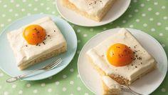 Diese Spiegeleier dürfen auf die Kaffeetafel: Backrezept für einen Spiegeleikuchen mit Aprikosen. Ein Augenschmaus, der auch ein Ostereikuchen sein kann.
