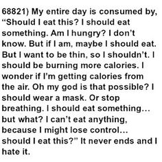 I haven't been actively anorexic for 10 years now, but the anorexic thoughts are ALWAYS with me. Anorexia Recovery, Eating Disorder Recovery, Relapse, Angst, Thoughts And Feelings, How I Feel, Along The Way, Disorders, Anxiety