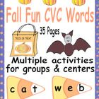 Students will have fun learning CVC words with a variety of materials for whole group, individual practice, centers, and small groups.