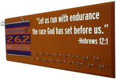 INSPIRATIONAL hebrews 12:1 for medals display Celebrate your victory with a stylish Inspirational medals display rack - Adidas with design specially made for all.Use this inspirational medal holder to display your medal in style .