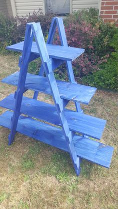 Wooden Ladder - Craft Fair Display - 5 foot - Ladder Shelf - Decorative Ladder - Trade Show Display - Craft Show Display - Portable Display - Advent basar - Rustic Shelving Unit, Rustic Bookshelf, Wooden Ladder Shelf, Ladder Decor, Ladder Display, Wood Projects, Woodworking Projects, Portable Display, Art And Craft Shows