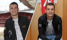 Picture Special: Arsenal's Granit Xhaka tours the Emirates and poses in home changing room Premier League Table, Barclay Premier League, Arsenal Players, Arsenal Fc, Granit Xhaka, Changing Room, Gossip, Tours, Arsenal F.c.
