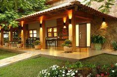 Farmhouse Porch Pillars Dream Houses Ideas For 2019 Porch Beams, Porch Columns, Pergola, Patio Grande, Mediterranean Homes, Farmhouse Lighting, Tropical Houses, My Dream Home, My House