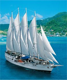 Windjammer cruising in the British Virgin Islands!!! #cruise  (Caribbean to the east of Puerto Rico)