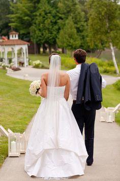Bride and Groom - summer wedding on Walloon Lake