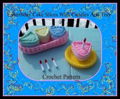 Birthday Cake Slices With Candles And by craftsforangels on Etsy, $4.99