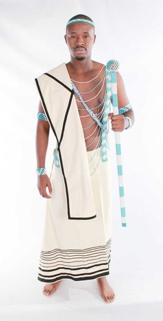 Cream Xhosa Man Outfit Xhosa Attire, African Fashion, African Style, African Tribes, African Dress, Cover Up, Man Outfit, Traditional, Cream