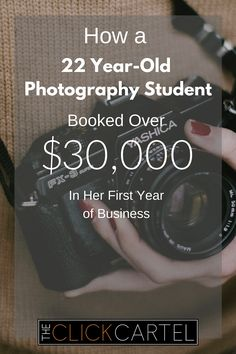 Learn how a photography student booked over $30,000 in her first year from professional photographer Pepper Nix. #photography #wah