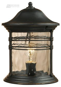 Landmark Lighting Madison Traditional Outdoor Post Lantern Light