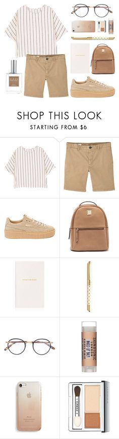 """Untitled #184"" by moderockcity ❤ liked on Polyvore featuring MANGO, Puma, Smythson, Kate Spade, Garrett Leight, Skin & Tonic, Rebecca Minkoff, Clinique and CLEAN"
