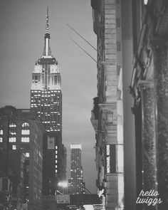 New York Photo, Black White Print, Travel Photos, Empire State Building, New York Architecture - The Prettiest