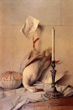 "White Duck, Jean Baptiste Oudry, 1753, p.741, stolen in 1992; has not resurfaced. Perhaps the painting of a ""dead duck"" recovered by Boris's tip."