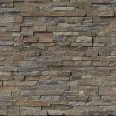 Bring a seamless and irresistible appearance instantly to the walls or floors when you use this MSI Canyon Creek Ledger Panel Natural Quartzite Wall Tile. Natural Earth, Natural Stones, Slate Wall Tiles, Stacked Stone Panels, Stone Veneer Panels, Sandstone Wall, Canyon Creek, Stone Siding, Stone Exterior