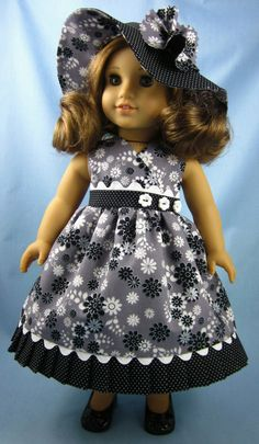 American Girl Doll Clothes   Sundress and Hat by SewMyGoodnessShop, $25.00