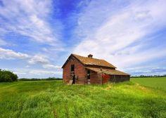 Canada, Alberta, barn, abandoned