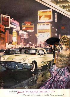 Ford Thunderbird 1959 - www.MadMenArt.com | Vintage Cars.  Anyone know what the deal is with this photo. This t Bird has single headlights- I have no knowledge of one made like this.