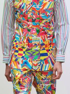 Comme des Garçons Shirt menswear S/S 2015 2015 Fashion Trends, 2015 Trends, Kitenge, Colorful Fashion, Unique Fashion, Style Ethnique, Mens Fashion Week, Textile Prints, Textiles