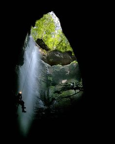 Magnificent scenery of the cave