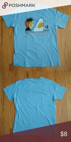 Ames Bros Man-Bot Vintage Graphic BLUE Adult T-shirt