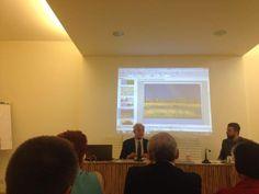 Daniele Jallà, Direttivo ICOM e Enrico Sama, Assessore alla Cultura del Comune di Bagnacavallo al convegno Ecomusei