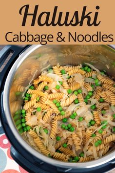 Haluski - Cabbage and Noodles Recipe Delicious Dinner Recipes, Easy Healthy Recipes, Haluski Recipe, Homemade Ciabatta Bread, Cabbage And Noodles, Gluten Free Noodles, Frugal Meals, Cheap Meals, Pasta Recipes