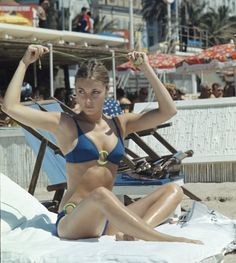 Pin for Later: 53 Cannes Film Festival Photos That Will Take You Way, Way Back Valley of the Dolls star Sharon Tate got some sun during the festival in 1968.