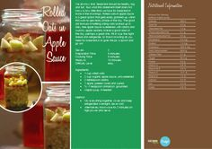 Rolled Oats in Apple Sauce  -- -- >  http://vegetarianbody.com/wp-content/uploads/recipe-volume-1.pdf