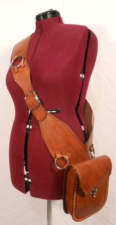 leather bandolier with pouch.