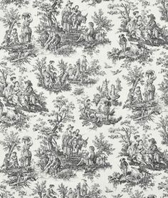 Waverly Rustic Toile Black Fabric - by the Yard Waverly http://www.amazon.com/dp/B003ZFAH46/ref=cm_sw_r_pi_dp_02EPub1K0R8AC