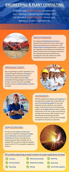 OPS Screening & Crushing Equipment offers industry-leading engineering and plant consulting services, specialising in plant improvements, Maintenance Training, commissioning, and Design & Fabrication services.   OPS also provides solutions for project applications including:  - Forestry - Environmental  - Recycling  - Mineral Processing  - Materials Handing  - Mining  - Washing  - Quarrying  - Port & Rail Logistics.  #CrushingIt #OPS #Consultation