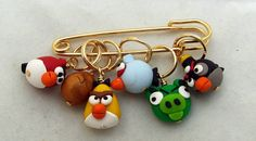 Angry Bird stitchmarkers from Fyrestorm Creations on Etsy