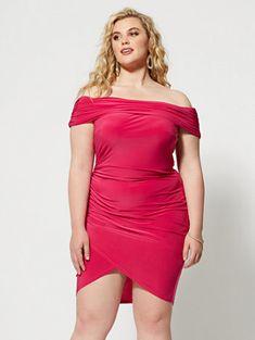 a4331f92bab1 PlusManuella Off Shoulder Bodycon Dress - Fashion to Figure