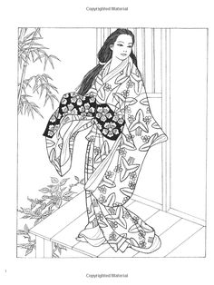 creative haven japanese kimono designs coloring book creative haven coloring books ming