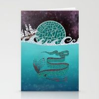 Ore Fish Mosaic Stationery Cards