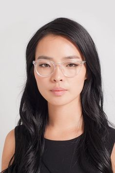 b546ba212e Morning Clear White Acetate Eyeglasses from EyeBuyDirect. Discover  exceptional style